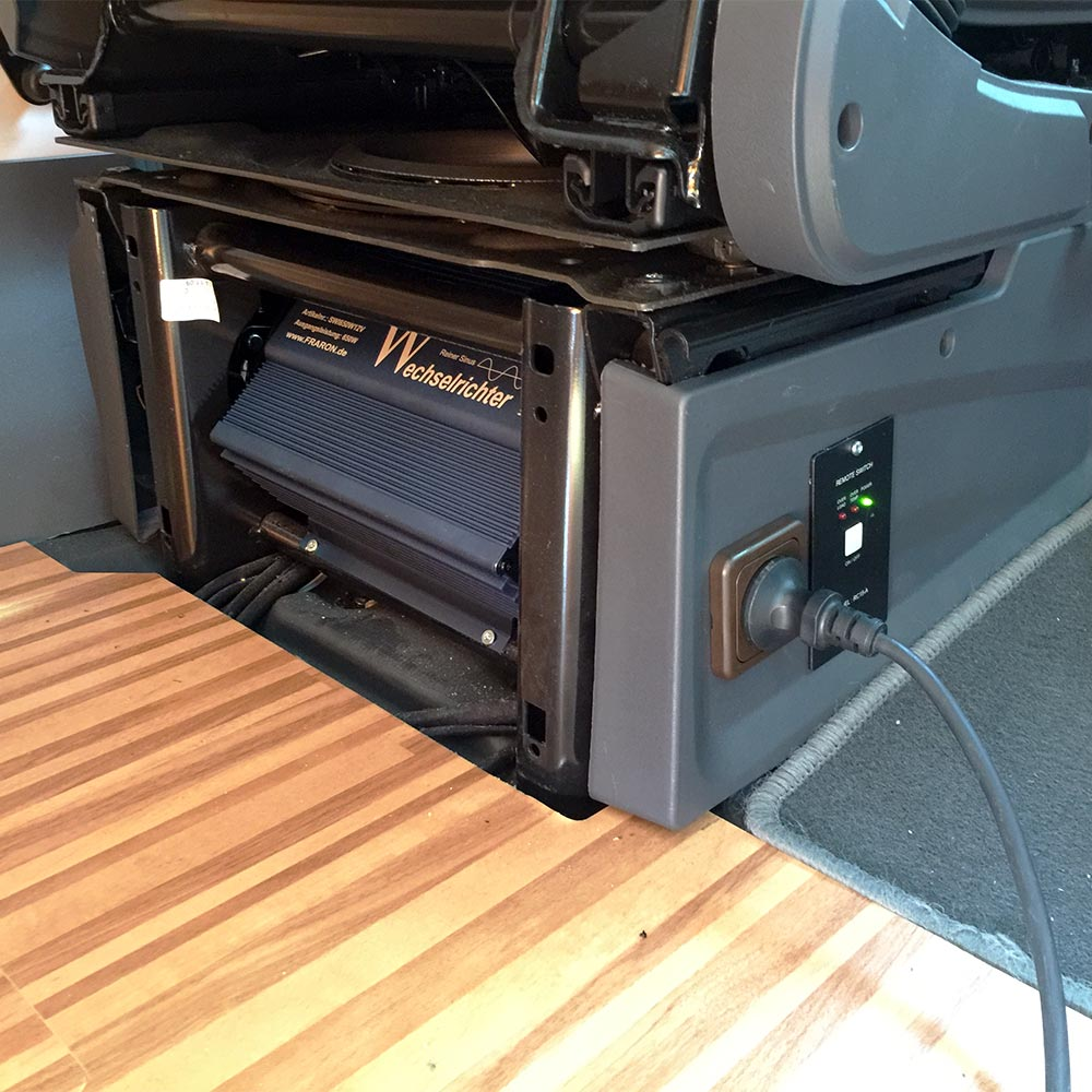 230v installation wechselrichter fraron wohnmobil. Black Bedroom Furniture Sets. Home Design Ideas
